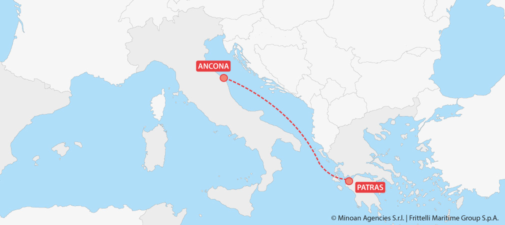 map ferries italy greece ancona patras grimaldi lines minoan lines