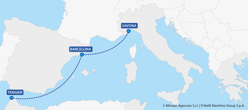 map ferries italy morocco savona tangier grimaldi lines