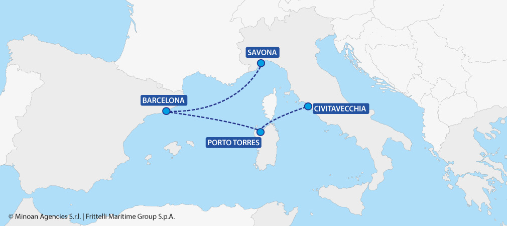 map ferries italy spain grimaldi lines