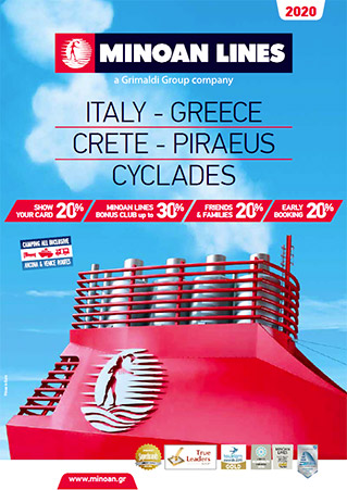 cover brochure ferries italy greece 2020
