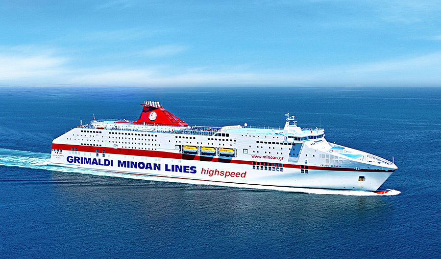 cruise olympia grimaldi minoan lines in navigation