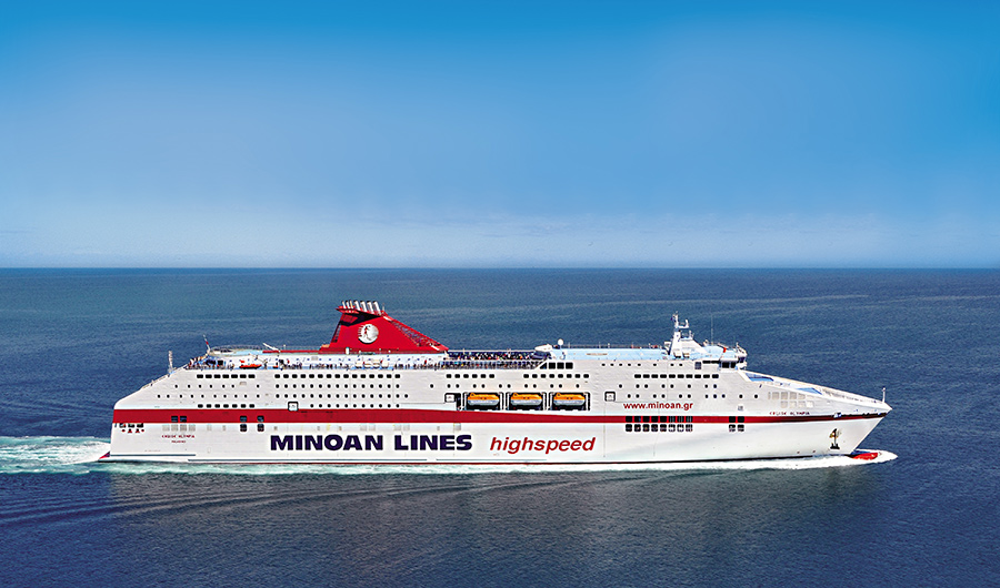 cruise olympia minoan lines in navigation