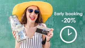 Early booking extended until 31 march 2021