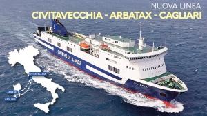 Nuova linea Civitavecchia - Arbatax - Cagliari Grimaldi Lines