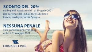 "Nuova offerta ""desiderio d'estate"" Grimaldi Lines"
