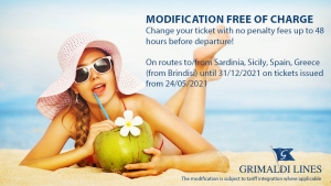 """New offer """"Modification free of charge"""" Grimaldi Lines"""