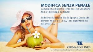 """Nuova offerta """"Modifica senza spese"""" Grimaldi Lines"""