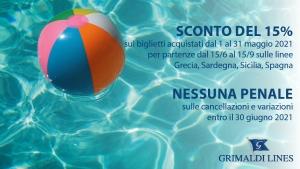 "Offerta ""desiderio d'estate 2"" Grimaldi Lines"