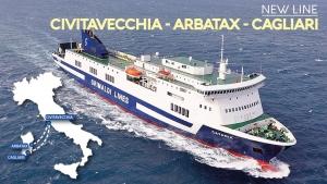 New line Civitavecchia - Arbatax - Cagliari Grimaldi Lines