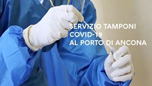 Presidio tamponi Covid-19 al porto di Ancona