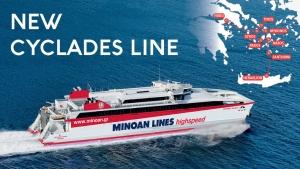 New ferry line Piraeus - Cyclades - Heraklion